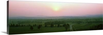 Road passing through a landscape, Gettysburg Battlefield, Gettysburg, Adams County, Pennsylvania,