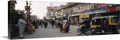 Road passing through a market, Bikaner, Rajasthan, India