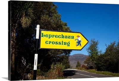 Road sign at Ladies View, Killarney National Park, County Kerry, Ireland