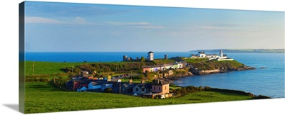 Roche's Point Village and Lighthouse, County Cork, Ireland