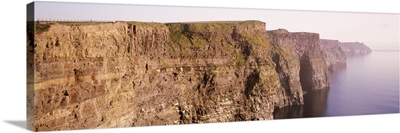 Rock formations at the coast, Cliffs Of Moher, County Clare, Republic Of Ireland