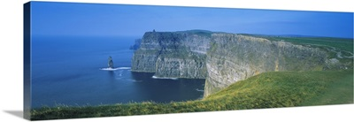 Rock formations at the coast, Cliffs Of Moher, The Burren, County Clare, Republic Of Ireland