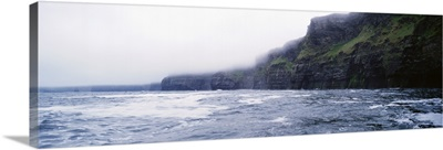 Rock formations at the waterfront, Cliffs Of Moher, The Burren, County Clare, Republic Of Ireland