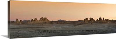 Rock formations in a desert, Trona, San Bernardino County, California