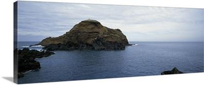 Rock formations in the sea, Porto Moniz, Madeira, Portugal