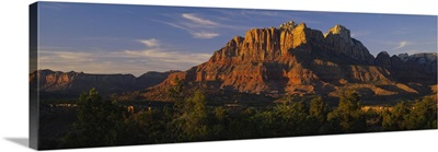 Rock formations on a landscape, Escalante Canyons, Zion National Park, Utah