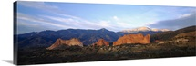 Rock formations on a landscape, Garden Of The Gods, Colorado Springs, Colorado
