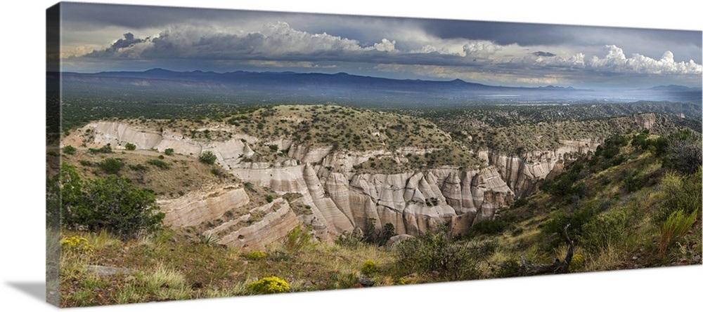 Canvas Santa Fe >> Rock Formations On A Landscape Kasha Katuwe Tent Rocks Santa Fe New Mexico
