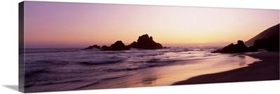 Rock formations on the beach, Pfeiffer Big Sur State Beach, Big Sur, California
