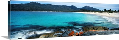 Rock formations on the beach, Wine Glass Beach, Tasmania, Australia