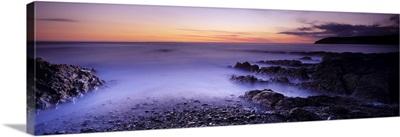 Rock formations on the coast Croyde North Devon Devon England