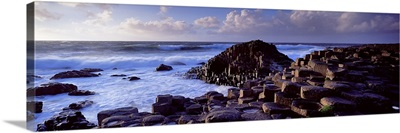 Rock formations on the coast, Giants Causeway, County Antrim, Northern Ireland