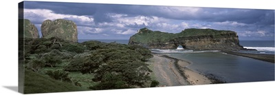 Rock formations on the coast, Hole in the Wall, Coffee Bay, Transkei, Wild Coast, Eastern Cape Province, Republic of South Africa