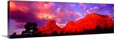 Rocks at Sunset Sedona AZ
