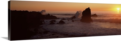 Rocks in the sea, California,