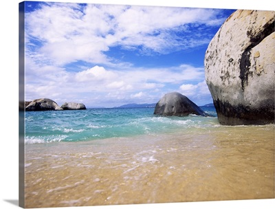 Rocks in the sea, The Baths, Virgin Gorda, British Virgin Islands