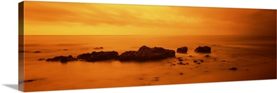 Rocks on the beach, California