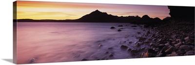 Rocks on the beach, Elgol Beach, Elgol, looking towards Cuillin Hills, Isle Of Skye, Scotland