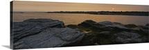 Rocks on the coast, Newport, Newport County, Rhode Island, New England