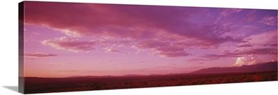Romantic sky at sunset, Taos Plateau, Taos, New Mexico