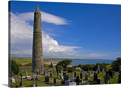 Round Tower in St Declans 5th Century Monastic Site