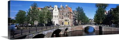 Row houses on Channel Amsterdam Netherlands