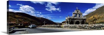 Ruins of a chapel San Rafael De Mucuchies Merida State Andes Venezuela