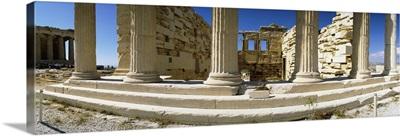 Ruins of a temple, Parthenon, The Acropolis, Athens, Greece