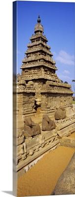Ruins of a temple, Shore Temple, Mahabalipuram, Tamil Nadu, India