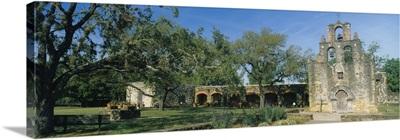 Ruins of an old church, Mission Espada, San Antonio Missions National Historical Park, San Antonio, Texas