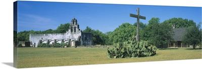 Ruins of an old church, Mission San Juan, San Antonio Missions National Historical Park, San Antonio, Texas
