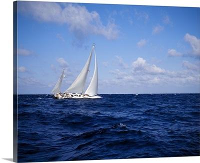 Sailboat in the sea, Bahamas