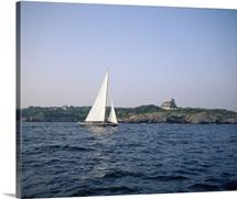 Sailboat in the sea, Jamestown, Rhode Island
