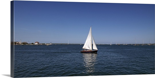 Sailboat in the sea nantucket massachusetts wall art for Nantucket by the sea