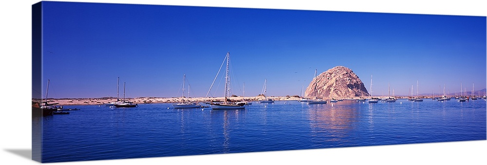 Sailboats In A Lake Morro Rock Morro Bay San Luis Obispo County California Wall Art Canvas Prints Framed Prints Wall Peels Great Big Canvas
