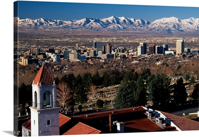 Salt Lake City and Wasatch Mountains UT