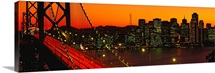 Sunset and the Golden Gate bridge, San Francisco CA