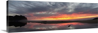 San Gregorio State Beach at sunset, California
