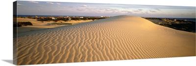 Sand dune at sunset, Outer Banks, North Carolina,