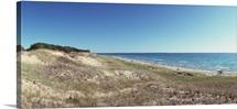 Sand dunes at the lakeside Upper Peninsula Lake Michigan Michigan