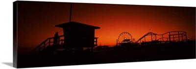 Santa Monica Pier, Santa Monica Beach, Santa Monica, California