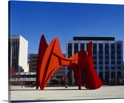 Sculpture in front of a building, Alexander Calder Sculpture, Grand Rapids, Michigan