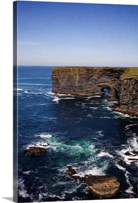 Sea Arch, Loop Head Coast Road, Near Kilrush, County Clare, Ireland