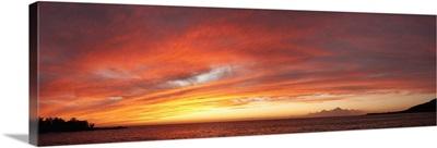 Sea at sunset, Kealakekua Bay, Kona Coast, Hawaii,