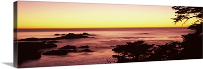 Sea at sunset, Point Lobos State Reserve, Carmel, Monterey County, California,