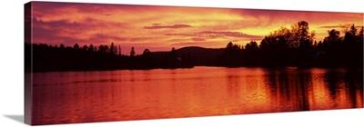 Sea at sunset, Vermont,