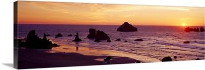 Sea Stacks at Sunset Bandon OR