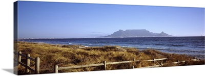 Sea with Table Mountain in the background Bloubergstrand Cape Town Western Cape Province South Africa