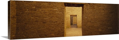 Series of doors in an ancient building, Anasazi Ruins, Pueblo Bonito, Chaco Culture National Historic Park, New Mexico