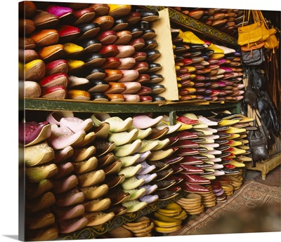 Shoes in a store, Fez, Morocco